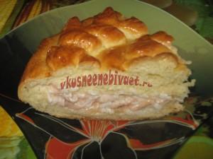 Пирог с соленой семгой
