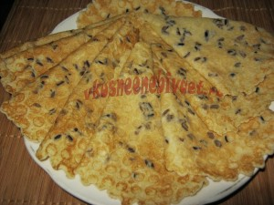 Мягкие вафли с диким рисом