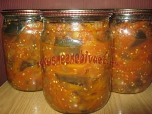Баклажаны в томате консервированные
