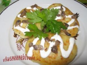 Рецепт картофельных зраз с грибами
